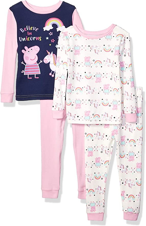Details about  /Peppa Pig Girls Under The Sea Cotton 3-Piece Pajamas Toddler Sizes Novelty