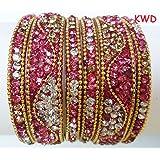 Tyagi Craft Indian Bollywood Bridal Fancy Crystal Bracelets Bangles Asian Jewellery