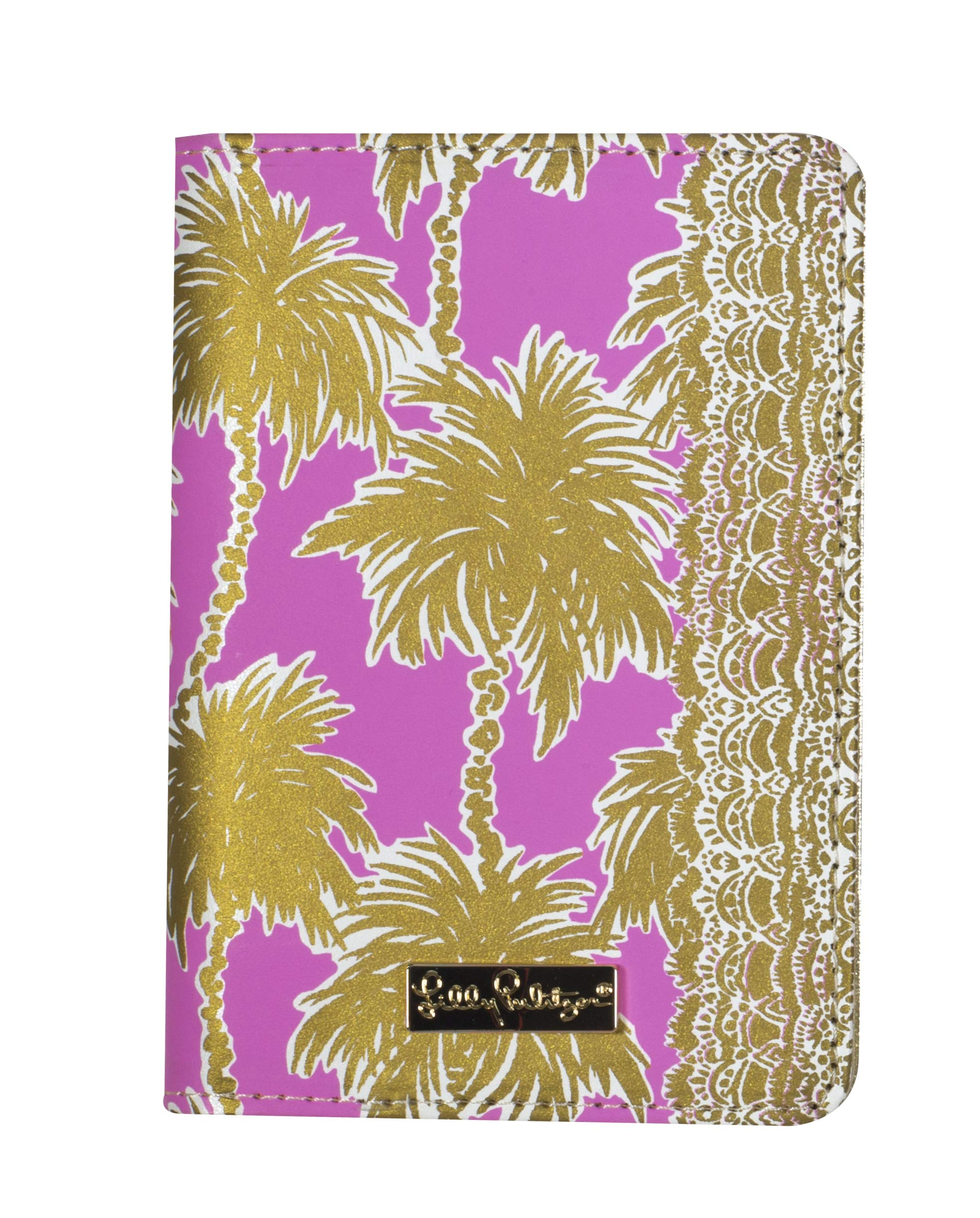 Lilly Pulitzer Passport Cover / Holder, Metallic Palms by Lilly Pulitzer