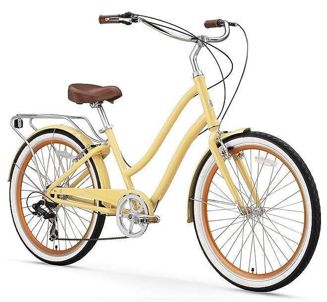 sixthreezero EVRYjourney Women's 26-Inch 7-Speed Step-Through Touring Hybrid Bicycle
