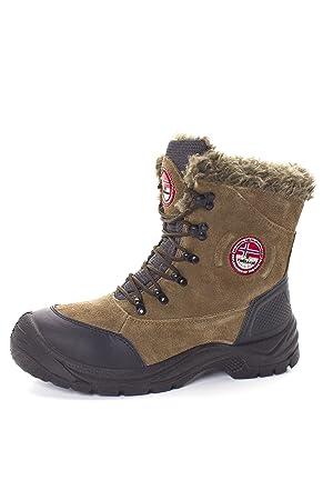 Genieße am niedrigsten Preis neueste Art von schön in der Farbe NEBULUS WINTERSTIEFEL MOUNTAIN ICE, Lederstiefel, Stiefel, Schuhe, Herren,  braun (Q274)