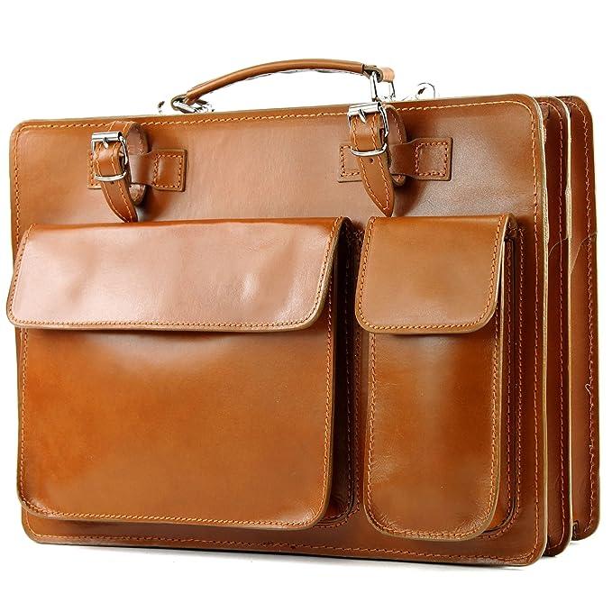 Italiano de cuero de la cartera/maleta coñac Modelo: NL01C