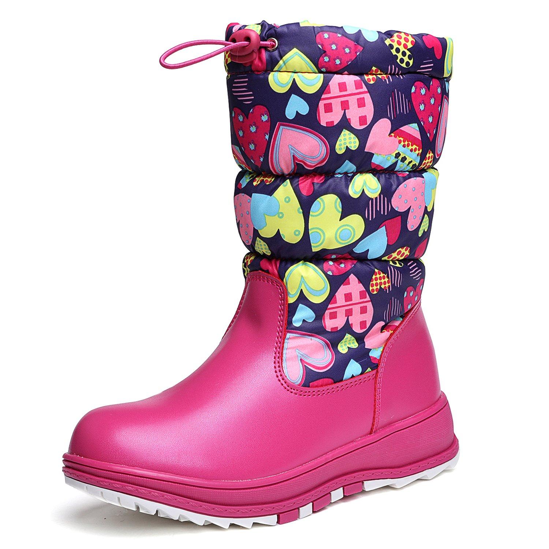 UBELLA Kids Girls Zip Up Fur-lined Snow Boots (Toddler/Little Kid)