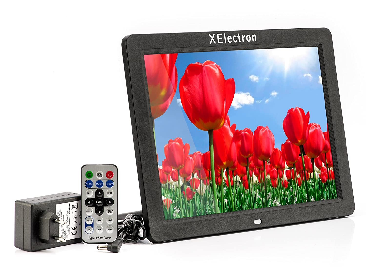 Buy XElectron 12-inch HD Ready Digital Photo Frame (Black) Online at ...