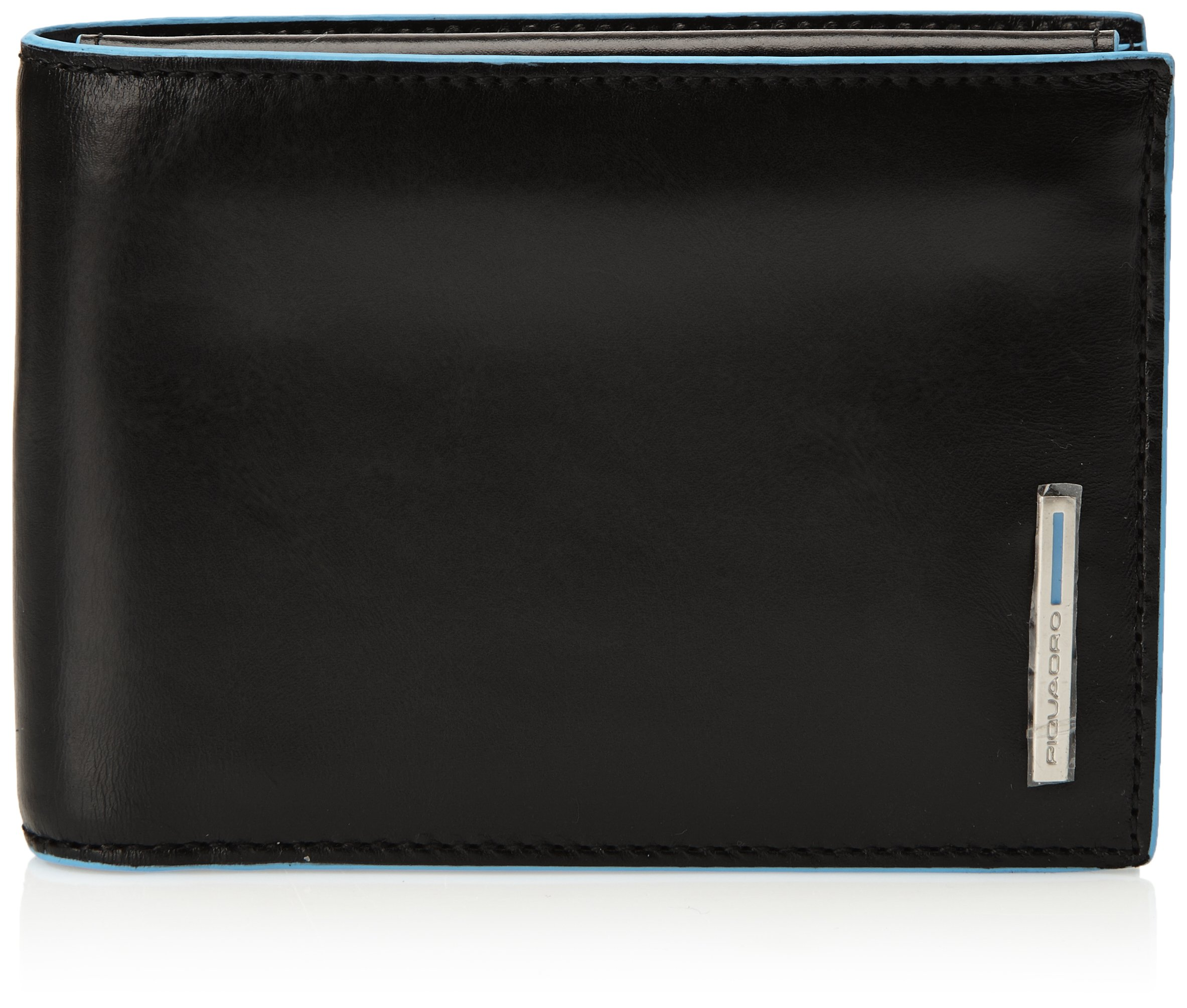 Piquadro Man's Wallet In Leather, Black 1392B2, One Size
