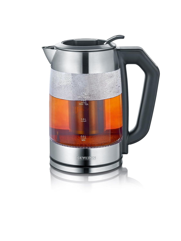 SEVERIN WK 3477 Digital Glas Tee- und Wasserkocher, 1.7 L, 2200 W