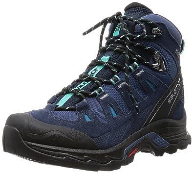 Salomon Damen Quest Prime GTX Trekking-& Wanderstiefel, Blau  (Slateblue/Deep Blue