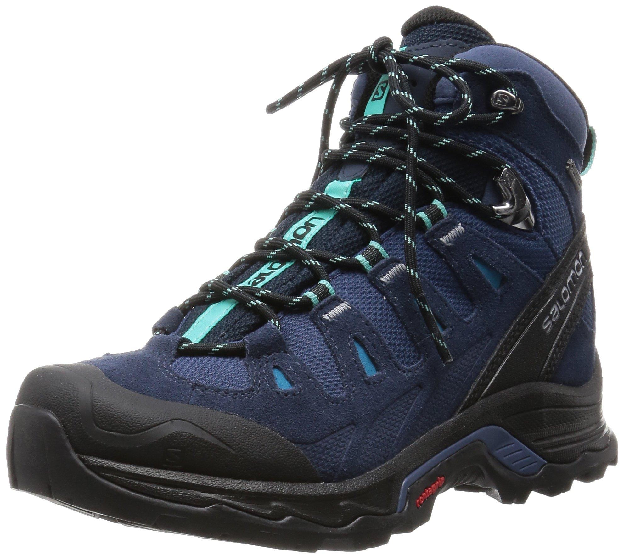 Salomon Women's Quest Prime GTX W Backpacking Boot, Slateblue/Deep Blue/Bubble Blue, 8.5 B US
