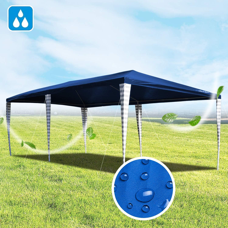 Hengda Cenador de jardín 3 x 6 m con protección UV para Fiestas ...