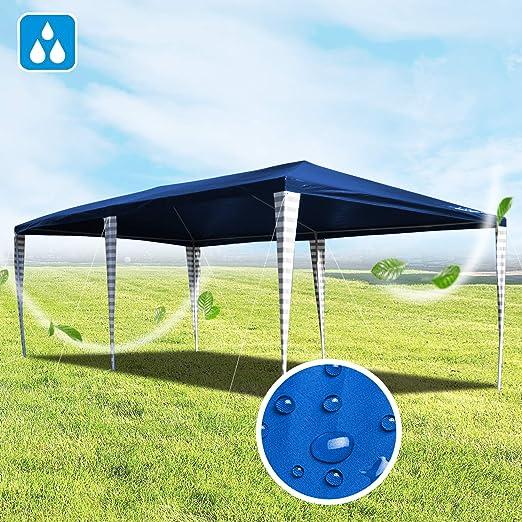 Hengda Cenador de jardín 3 x 6 m con protección UV para Fiestas, Carpa para Bodas y Fiestas al Aire Libre, jardín, Acampada, Azul: Amazon.es: Jardín