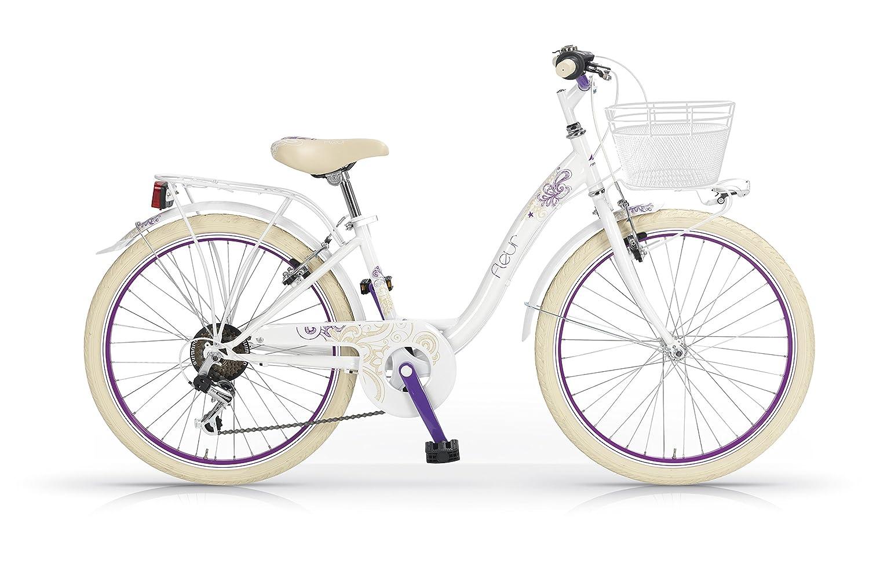 MBM Fleur - Bicicleta de paseo para mujer de 6 velocidades, cuadro ...