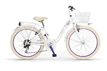 """4045c4d326c Bicicleta MBM Fleur 26 """"Mujeres 6S marco de acero - incluyendo basket  (White"""