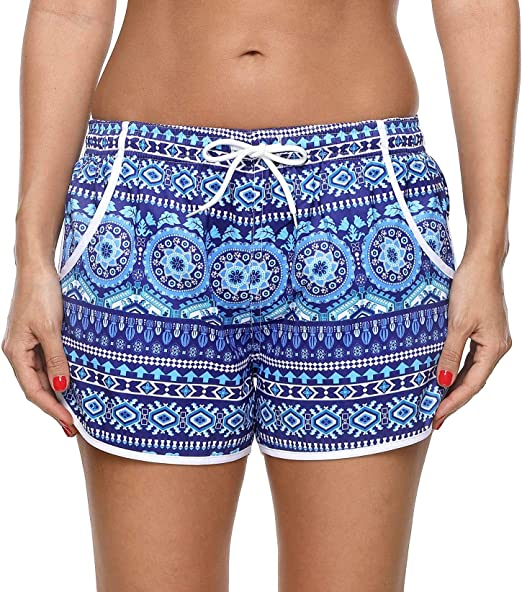 I Love Summer Womens Quick Dry Casual Shorts Swim Trunks Beach Board Shorts