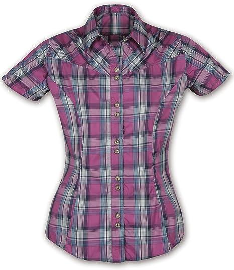 Páramo Sulu - Camisa para Mujer, diseño de Cuadros Morado Rosa Oscuro Talla:Small: Amazon.es: Ropa y accesorios