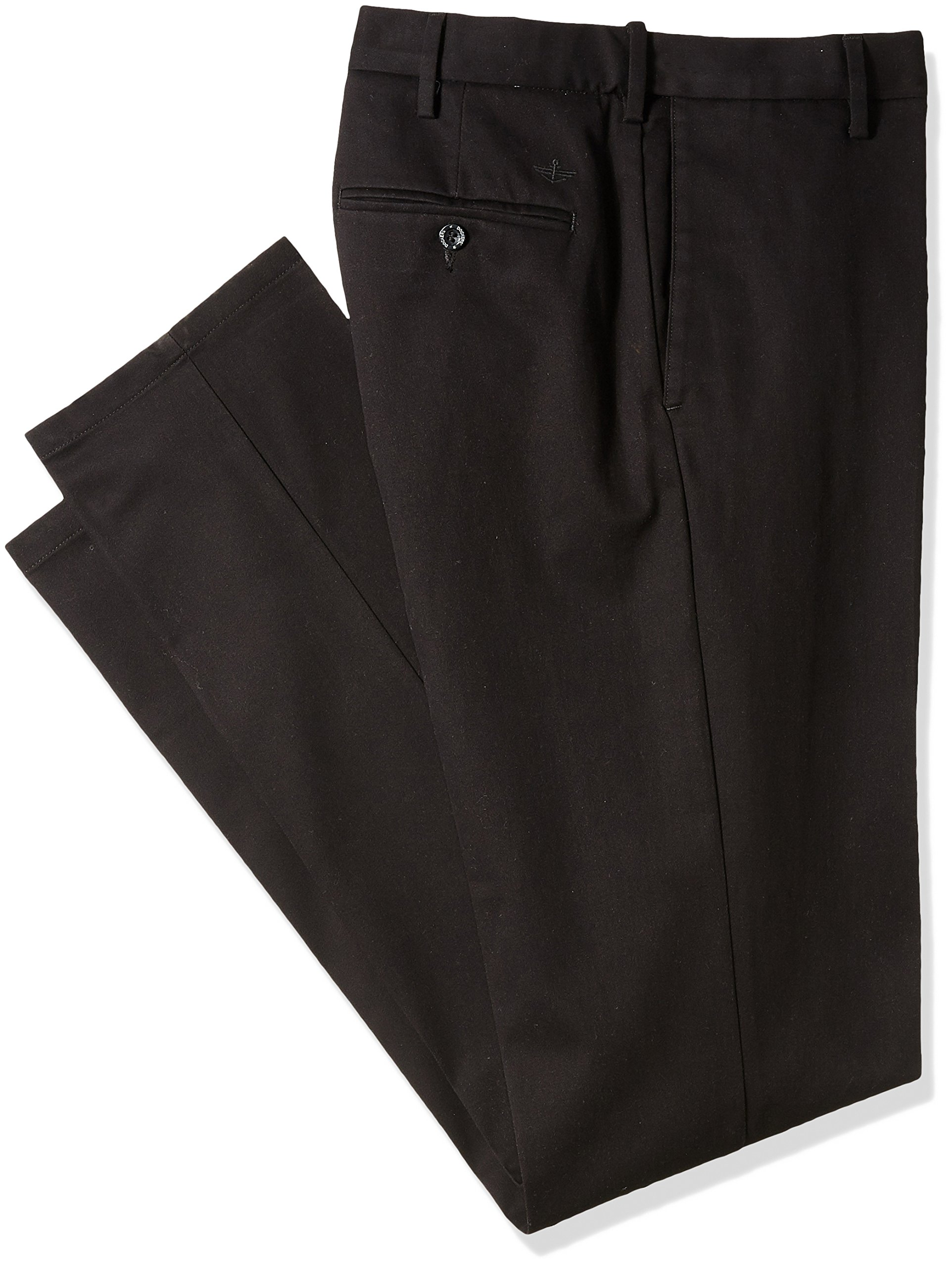 Dockers Men's Big and Tall Modern Tapered Fit Signature Khaki Pants, Black (Stretch), 46W x 29L by Dockers (Image #1)