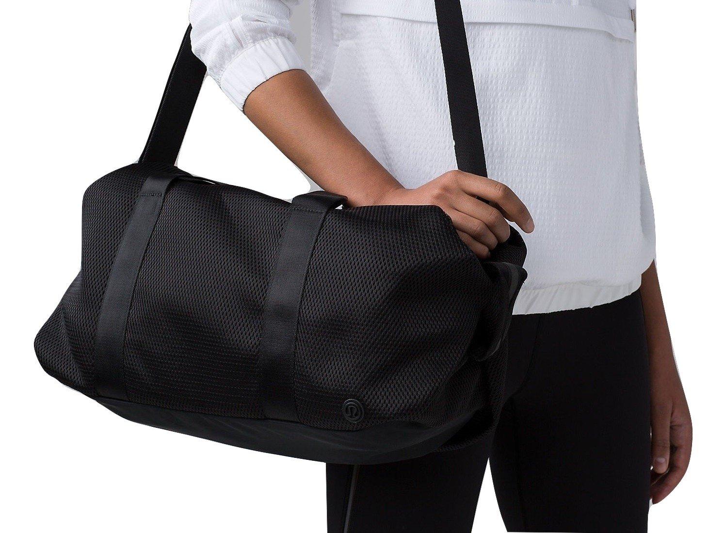 Lululemon Fast Track Duffel Bag (Mesh Black) by Lululemon