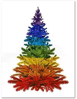 rainbow christmas tree merry christmas holiday greeting cards pride blank on the inside