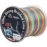 RUNCL Braided Fishing Line 8 Strands, Ultra Strong Braided Line - Smaller Diameter, Zero Memory, Zero Extension, Multiple Col