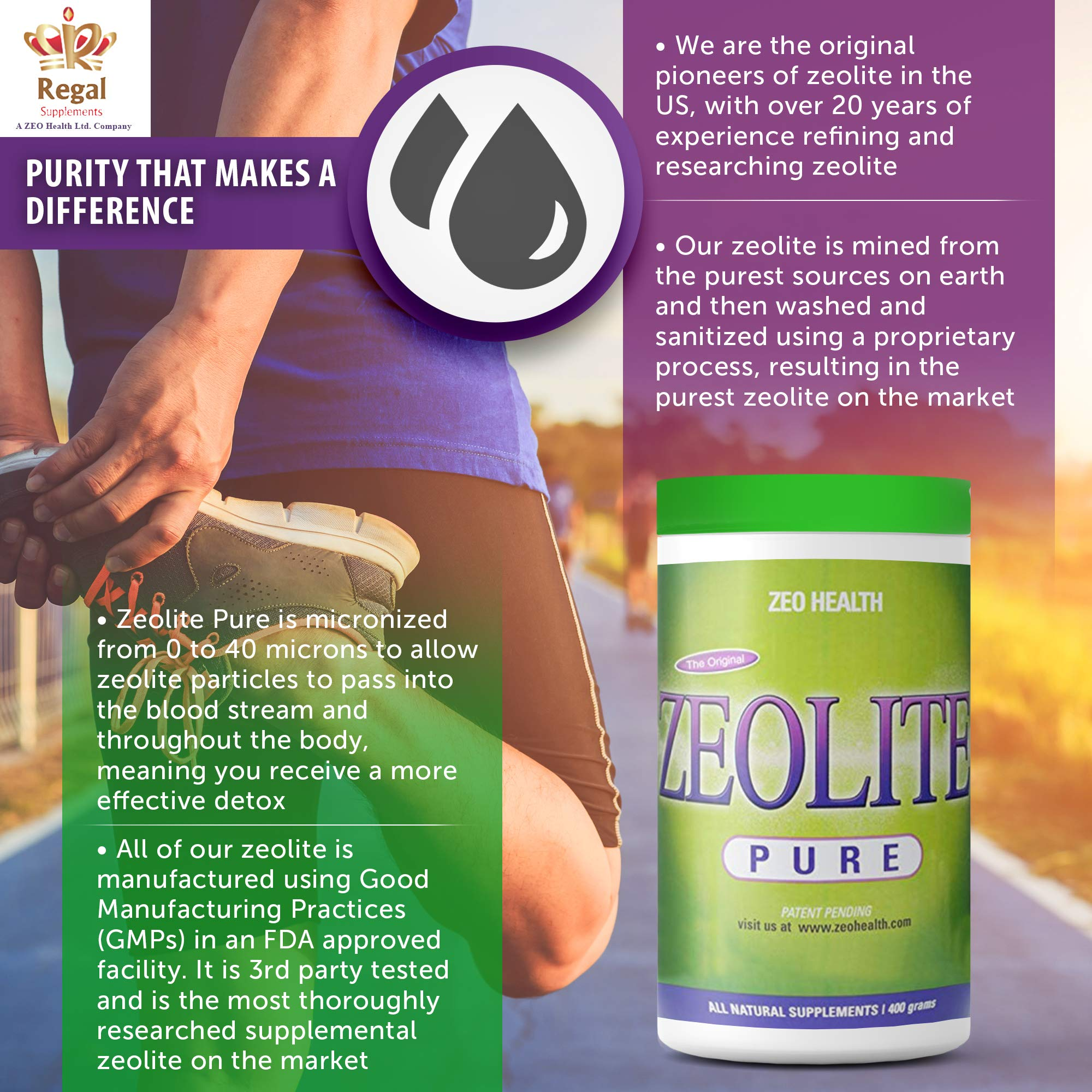 ZEOLITE PURE | Full Body Detox Cleanse | Safe, Gentle, & Effective Energy Booster that Supports Gut Health, Mental Clarity, & Healthy Inflammation Response| Original Zeolite Powder (400 Servings) by ZEOLITE PURE (Image #7)