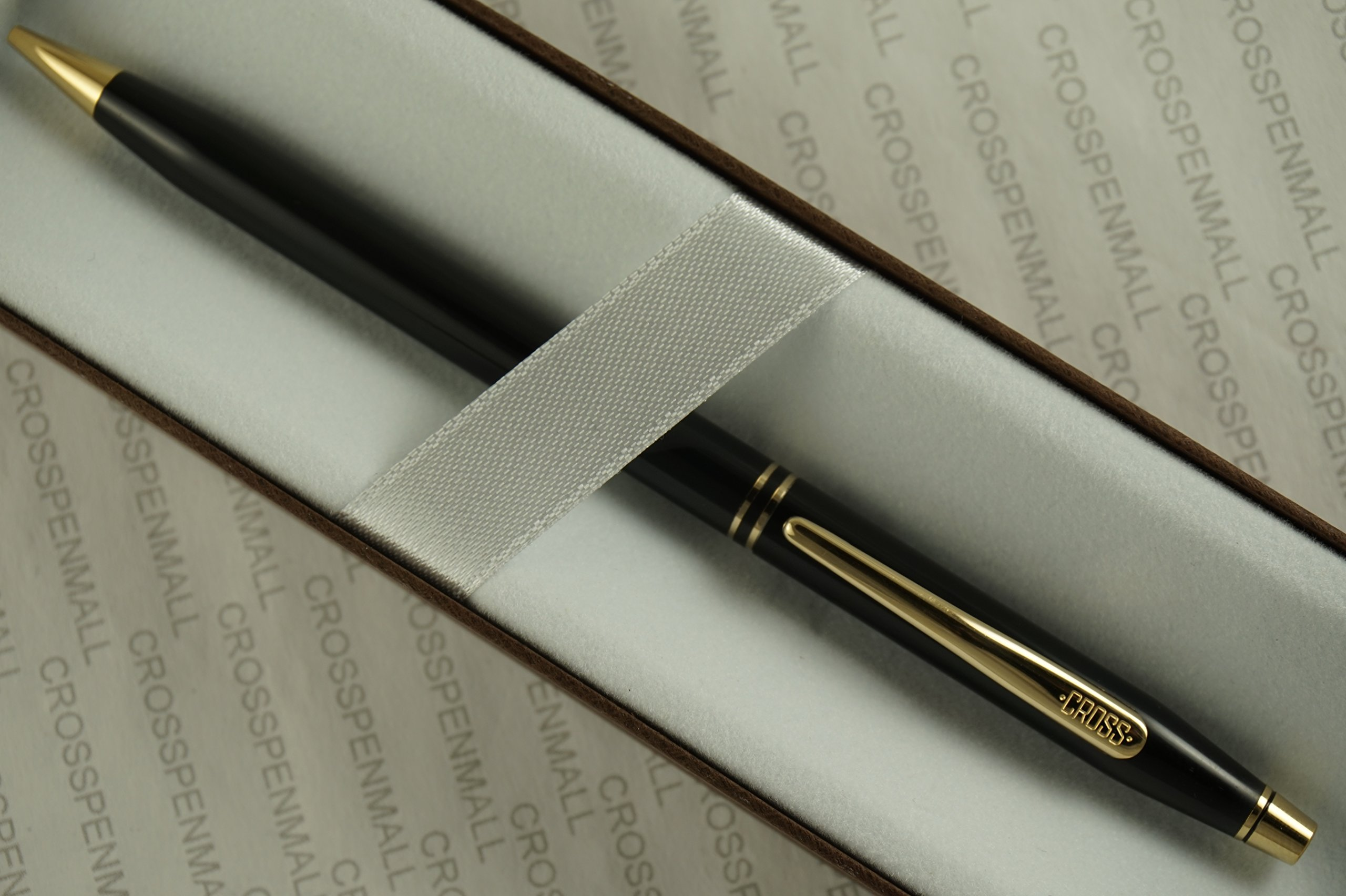 Cross Made in the USA Signature Century Classic International Collection Black Mechanical Pencil with 23kt Gold Appointments