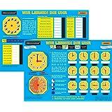 Pressogram Zaubertafel Wir lernen die Uhr - Uhrzeit