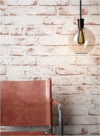Wunderbar Steintapete Vlies Weiß Rot Edel, 3D Optik Für Wohnzimmer, Schlafzimmer,  Flur Oder Küche