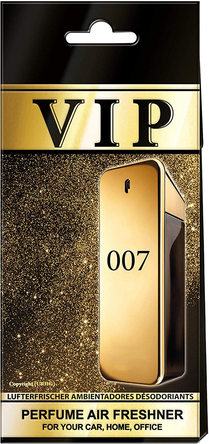 Set of 3 Car Air Fresheners-VIP-007, Automotive Hanging Car Accessories, Automobile Luxury Fragrance, Interior Famous Flavor Scent for Auto Home or Office, Long Lasting and Bad Smell Removal