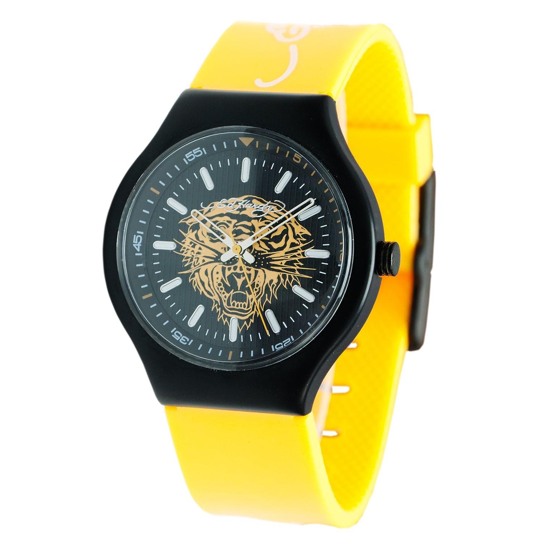 Amazon.com  Ed Hardy Women s  Neo  Quartz Plastic and Rubber Casual Watch 81edb6410f