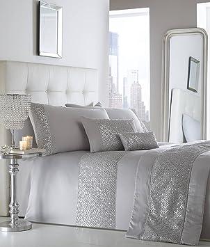 Luxe Paillettes Diamante Double housse de couette parure de lit