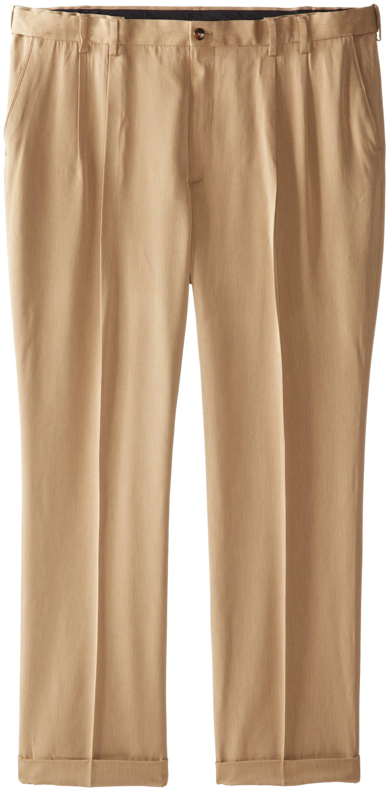 IZOD Men's Big and Tall Ultimate Traveller Pant, Dark Cedarwood Khaki, 52W x 32L