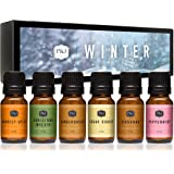 Winter Set of 6 Premium Grade Fragrance Oils - Cinnamon, Gingerbread, Sugar Cookies, Harvest Spice, Peppermint…