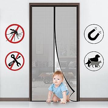 110x220 Klebmontage ohne Bohren Vorhang f/ür Balkont/ür Wohnzimmer Schiebet/ür Terrassent/ür MYCARBON Magnet Fliegengitter T/ür Insektenschutz Balkont/ür Fliegenvorhang 90x210