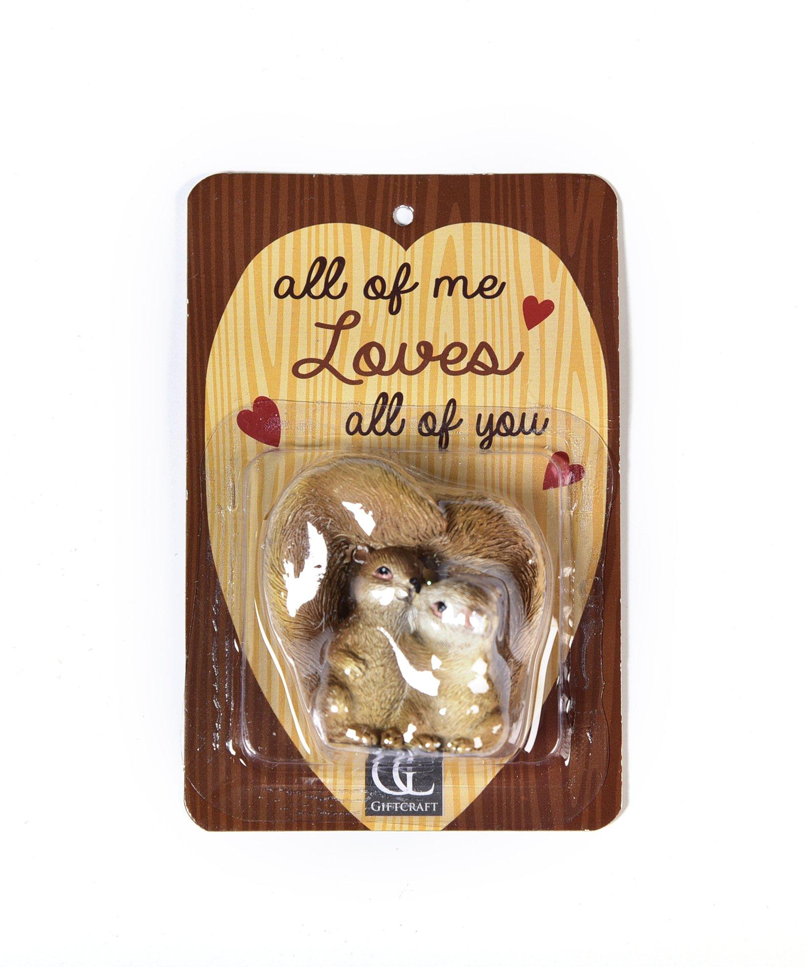 Gift Craft Miniature Woodland Animal Fairy Garden Mini Forest Polystone Figurines (Squirrel Couple) 711255