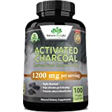 Activated Charcoal Capsules - 1,200 mg Highly Absorbent Helps Alleviate Gas & Bloating Promotes Natural detoxification Derive