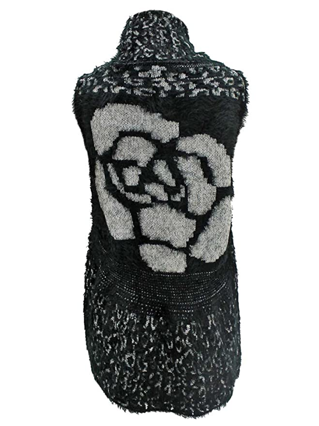 ce31af268934 Luxury Divas Animal Print Fuzzy Knit Sweater Vest at Amazon Women's  Clothing store: