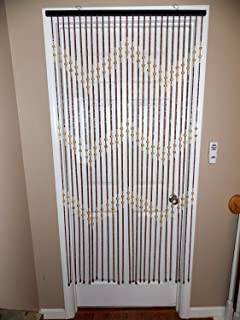 New 72  Natural Bamboo u0026 Wooden Bead Beaded Decorative Door Curtain & Amazon.com: BeadedString Wood Beaded Curtain-31 Strands-72
