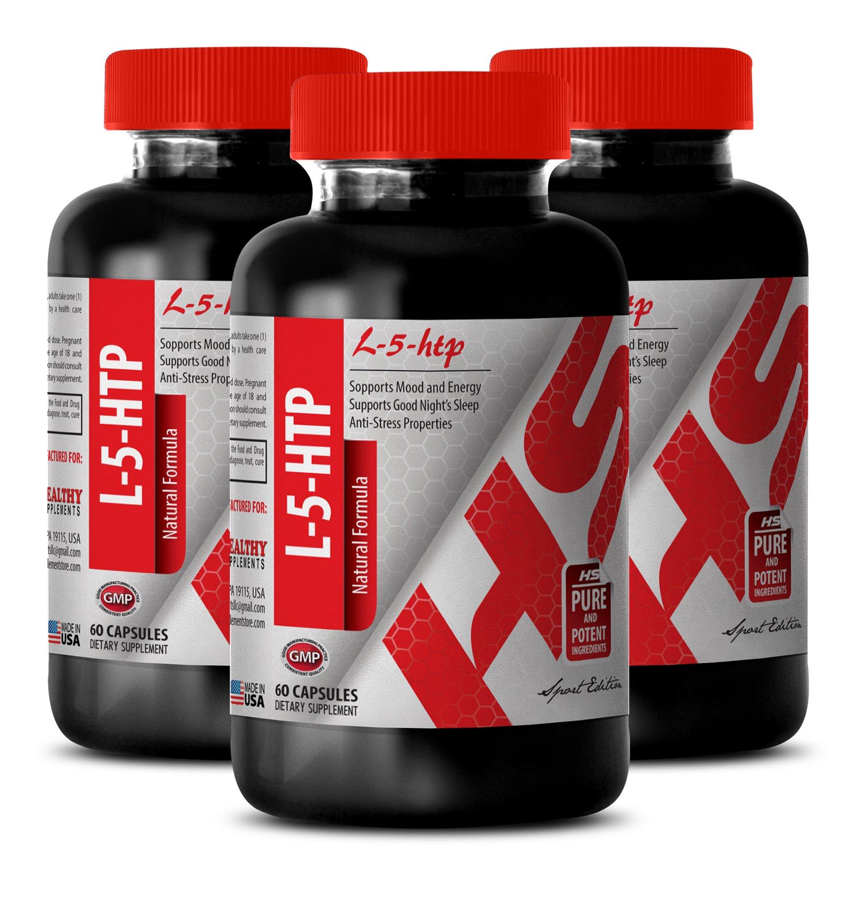 5 htp - 377 MG L-5-HTP NATURAL FORMULA - immune system booster (3 Bottles)