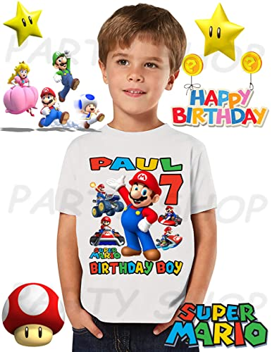 MARIO BROS Birthday Shirt Mario Bros Park PartyADD Any Name And Age FAMILY Matching Shirts Boys Girls