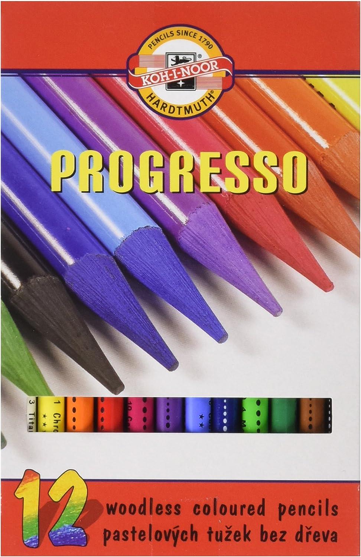 Koh-I-Noor Woodless Colored Pencil Set Assorted Color Set of 12