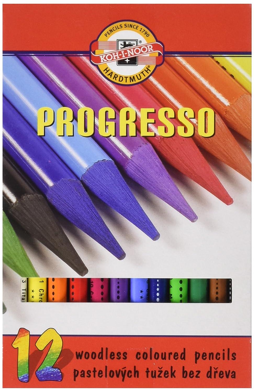Koh-I-Noor Progresso 8758024011 - Farbstifte, Vollminenstifte in Holzbox Holzbox Holzbox - 24 Stück B00JC3ZRD6 | Leicht zu reinigende Oberfläche  72872d