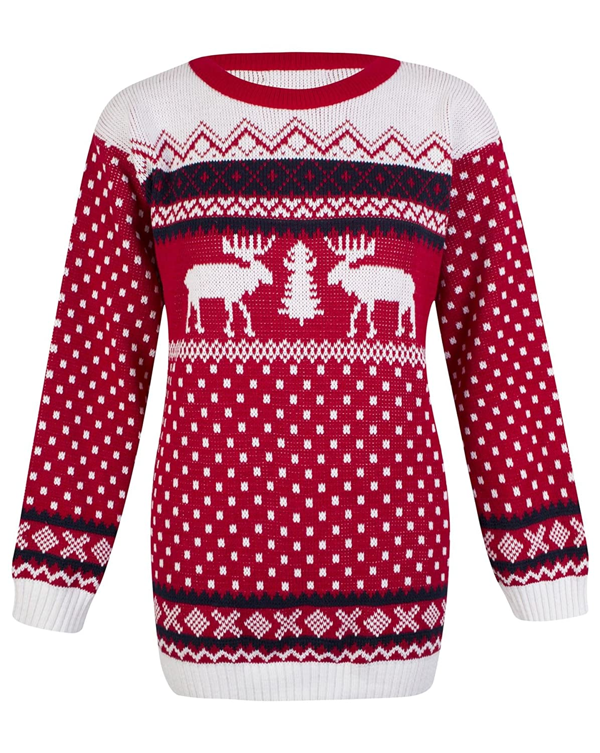 Amazon.com: OutofGas Clothing Women\'s Knitted Snowman Reindeer ...