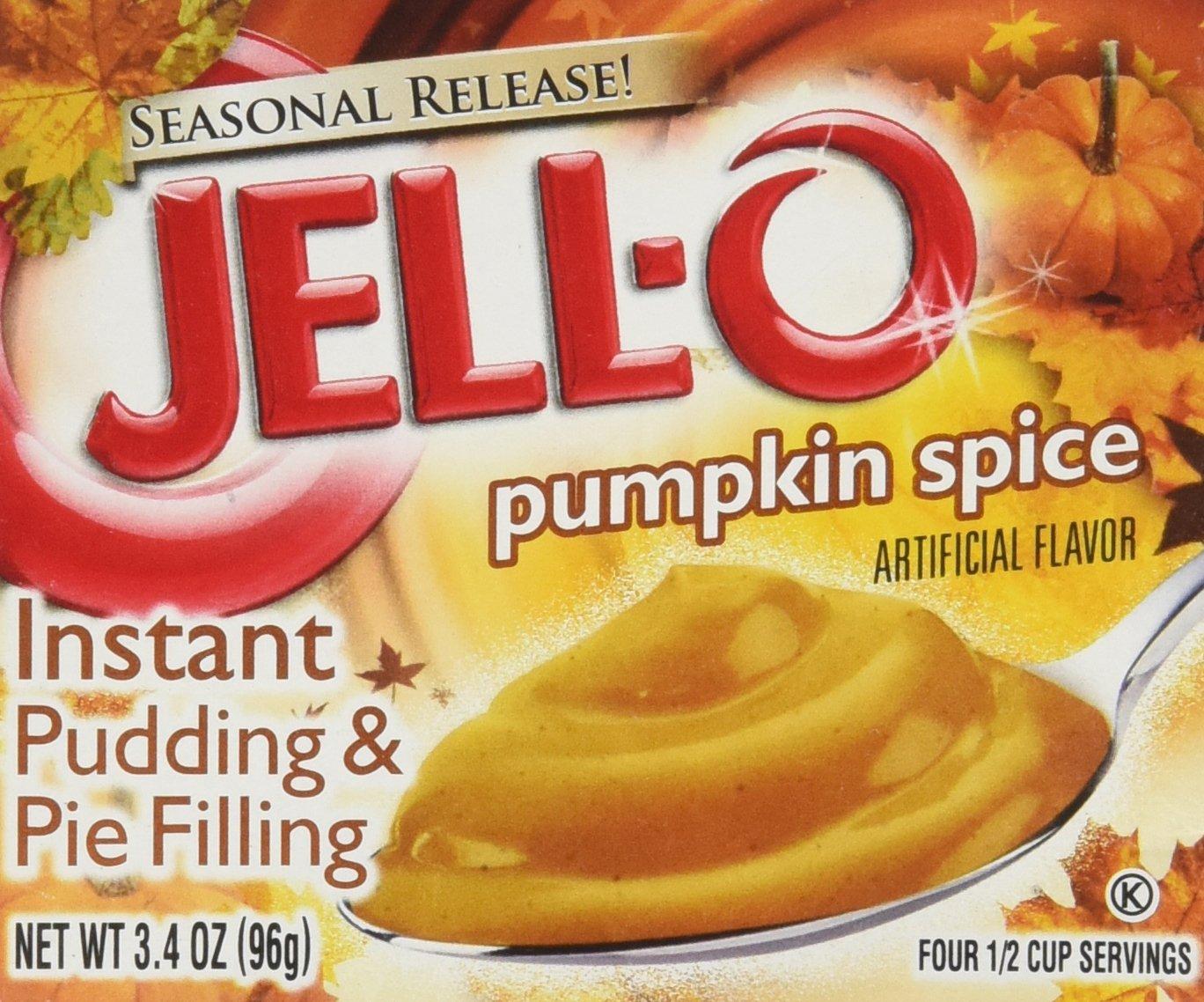 Kraft Jell-O Instant Pudding Dessert & Pie Filling, Pumpkin Spice, 3.4 Oz. Box