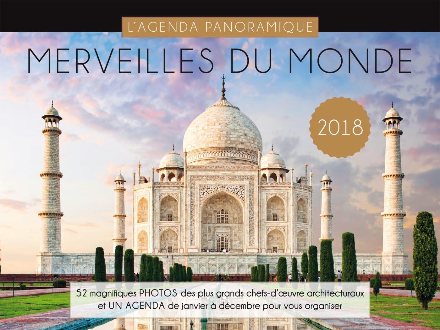 Agenda panorámica maravillas del mundo 2018: Collectif: Amazon.es: Oficina y papelería