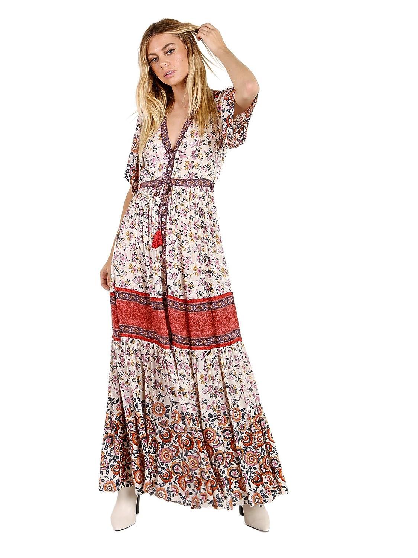 Spell Sayulita Frill Maxi Dress Birthstone at Amazon Women\'s ...