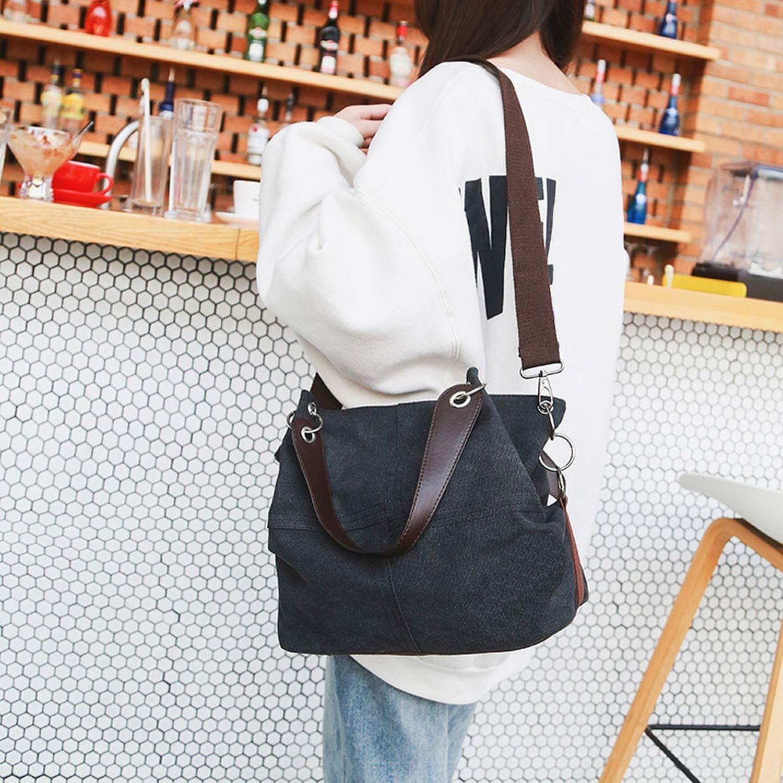 Bags Fashion WGirl Outdoor Canvas Pure Color Shoulder Bag Versatile Large capacity Travel Bag