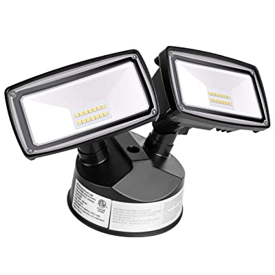 Amico LED Security Lights Outdoor, 20W, 5000K, 2200LM, IP65 Waterproof, ETL Certificated, Adjustable Flood Light for Exterior Use: Home Improvement