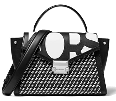 michael kors bags black and white