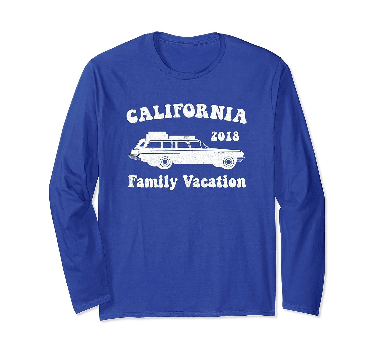Vintage California Family Vacation Long Sleeve T-Shirt-alottee gift