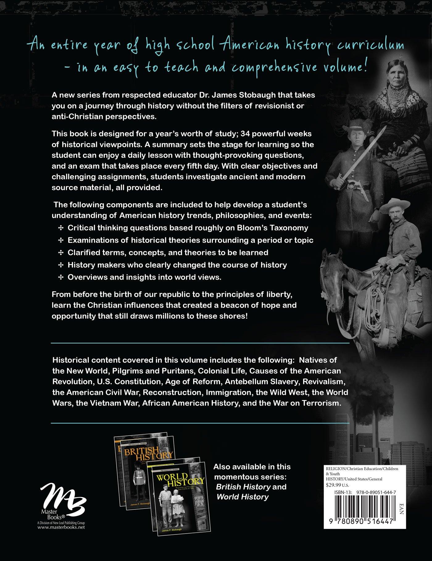 American History - Student: James P. Stobaugh: 9780890516447: Amazon.com:  Books