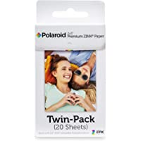 Polaroid 2x3 inch Premium ZINK Photo Paper TWIN PACK (20 Sheets) - Compatible With Polaroid Zip Instant Printer…